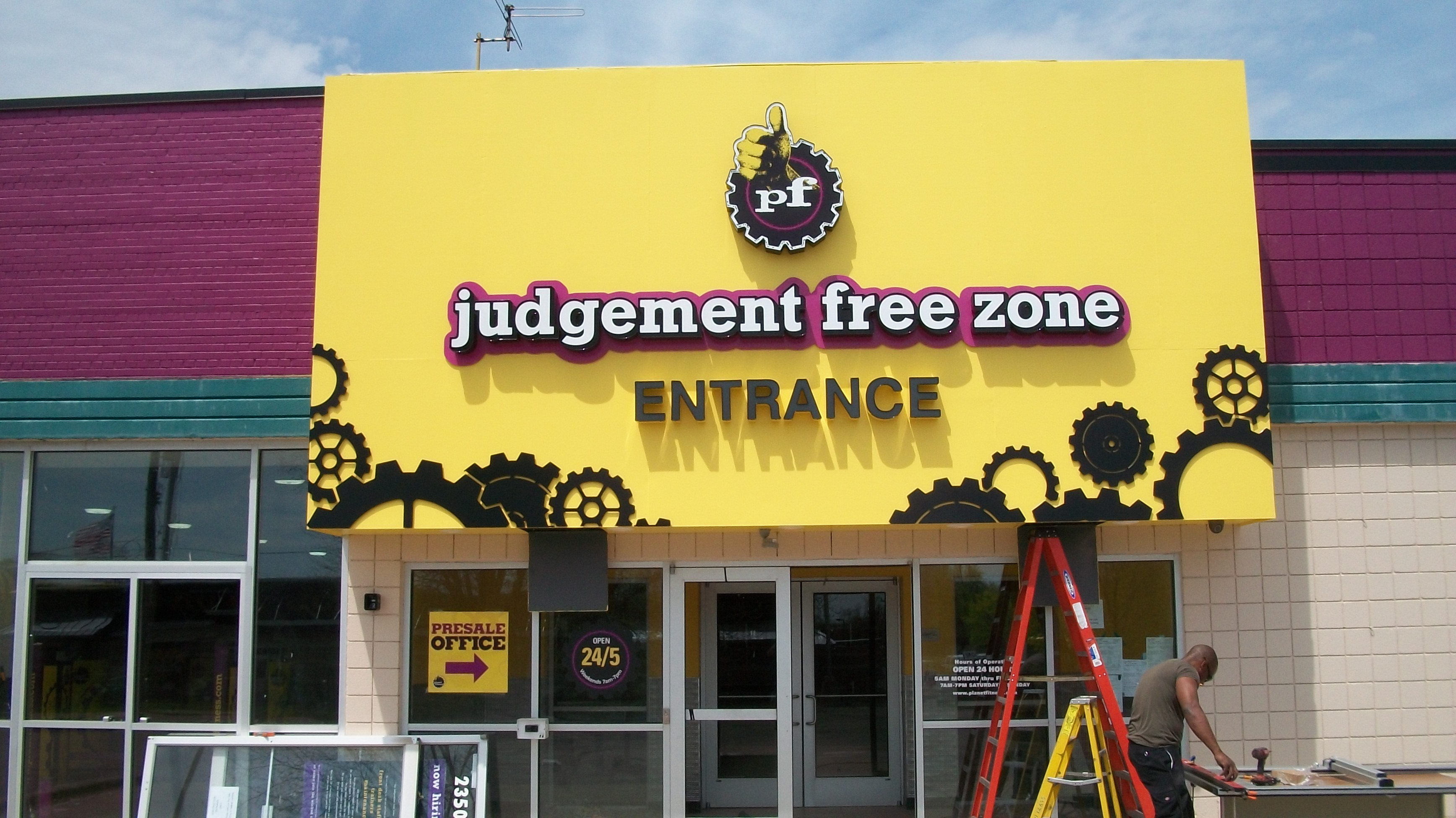 Planet Fitness- Channel Letters