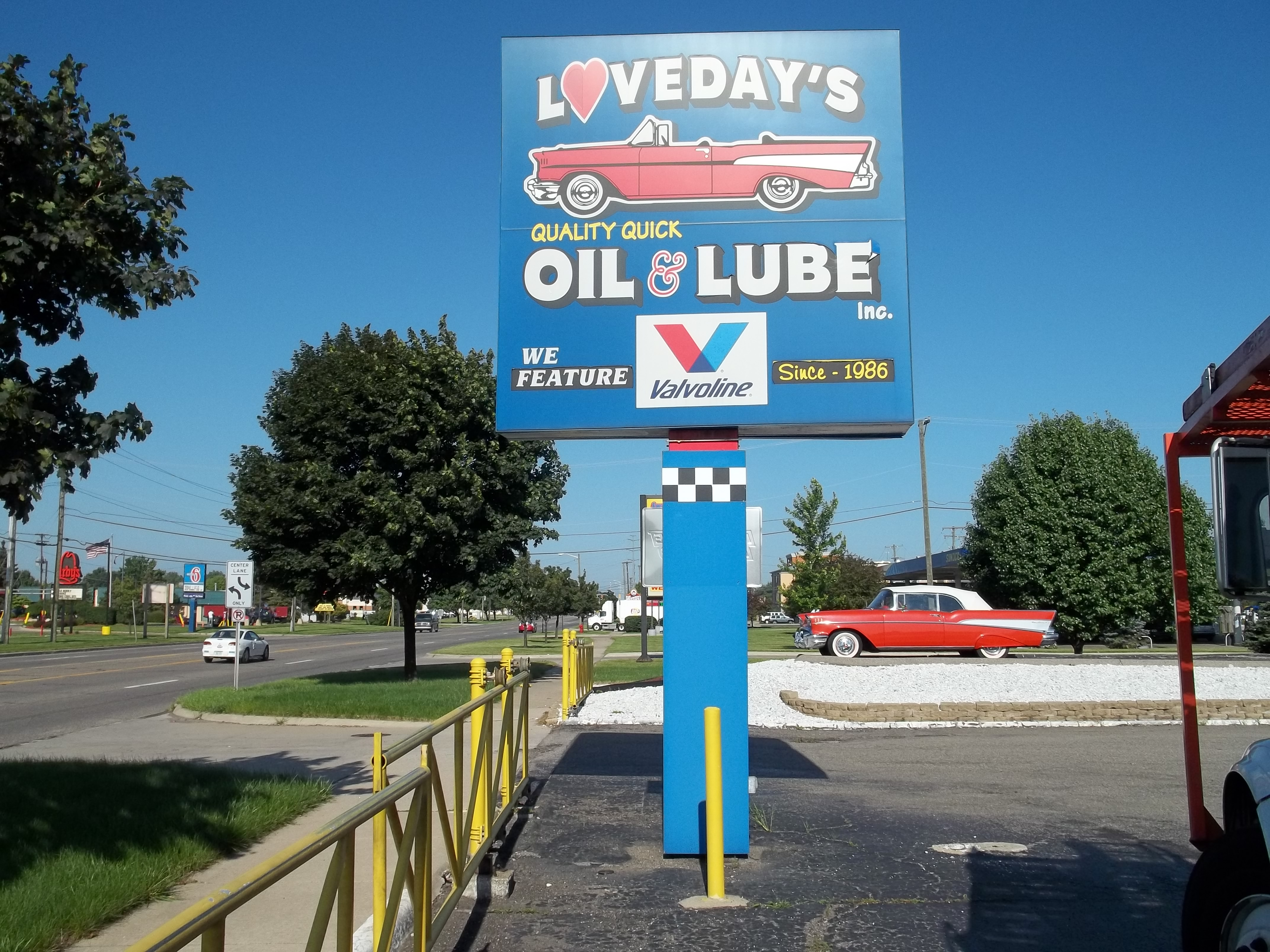 Lovedays Oil Pole Sign
