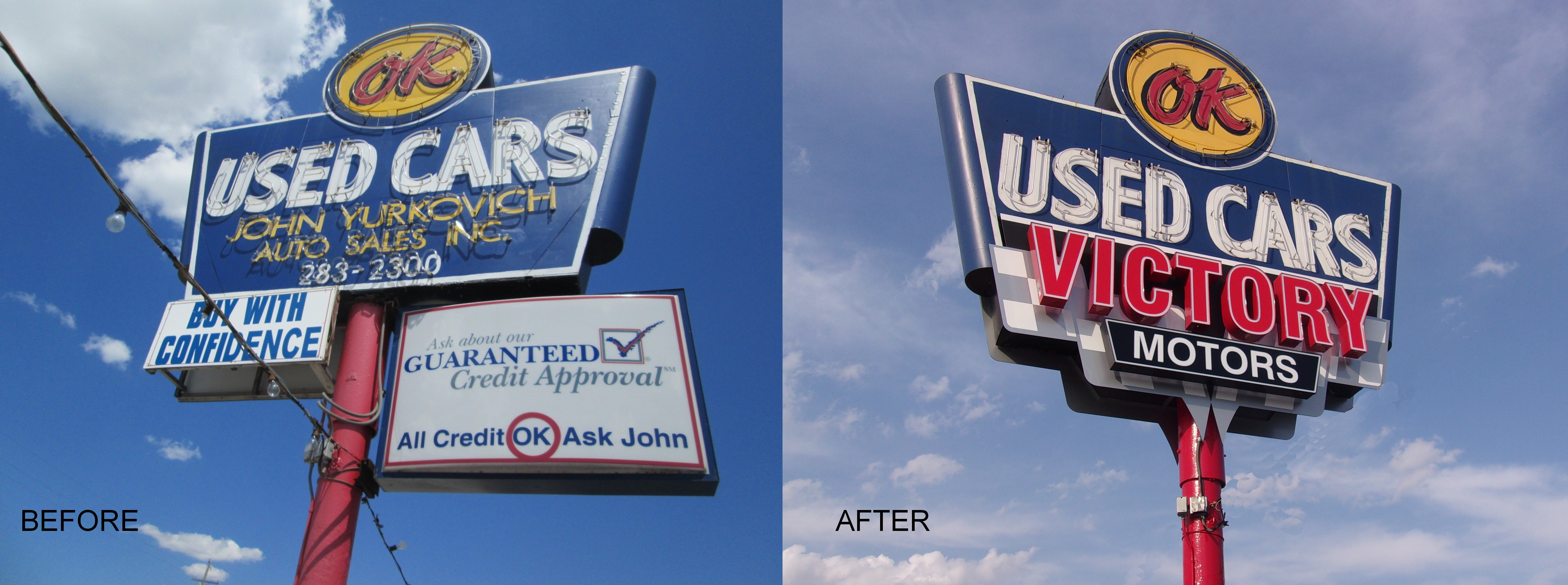 Victory Motors Before and After Wyandotte