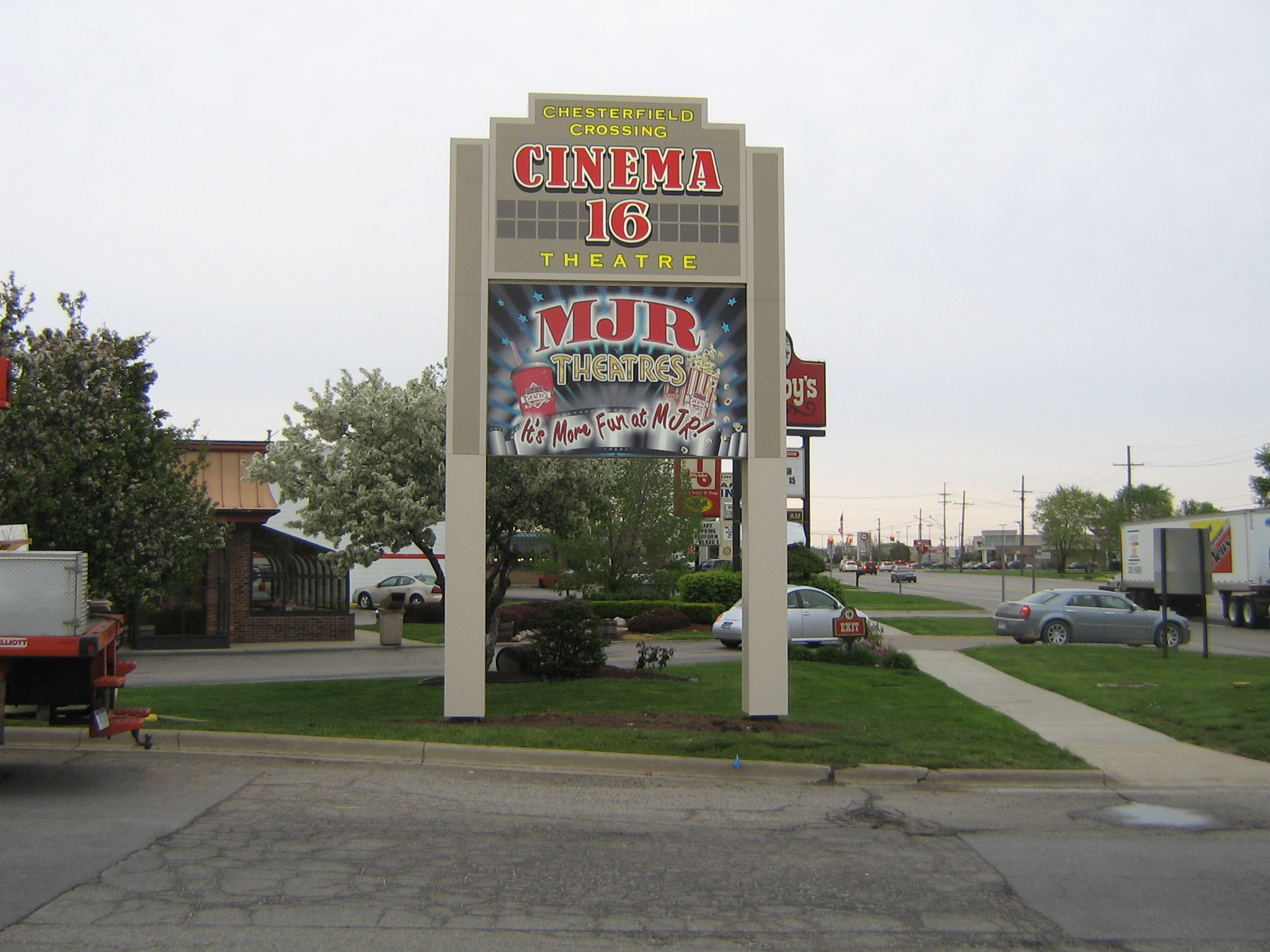 MJR Chesterfield Pole Sign