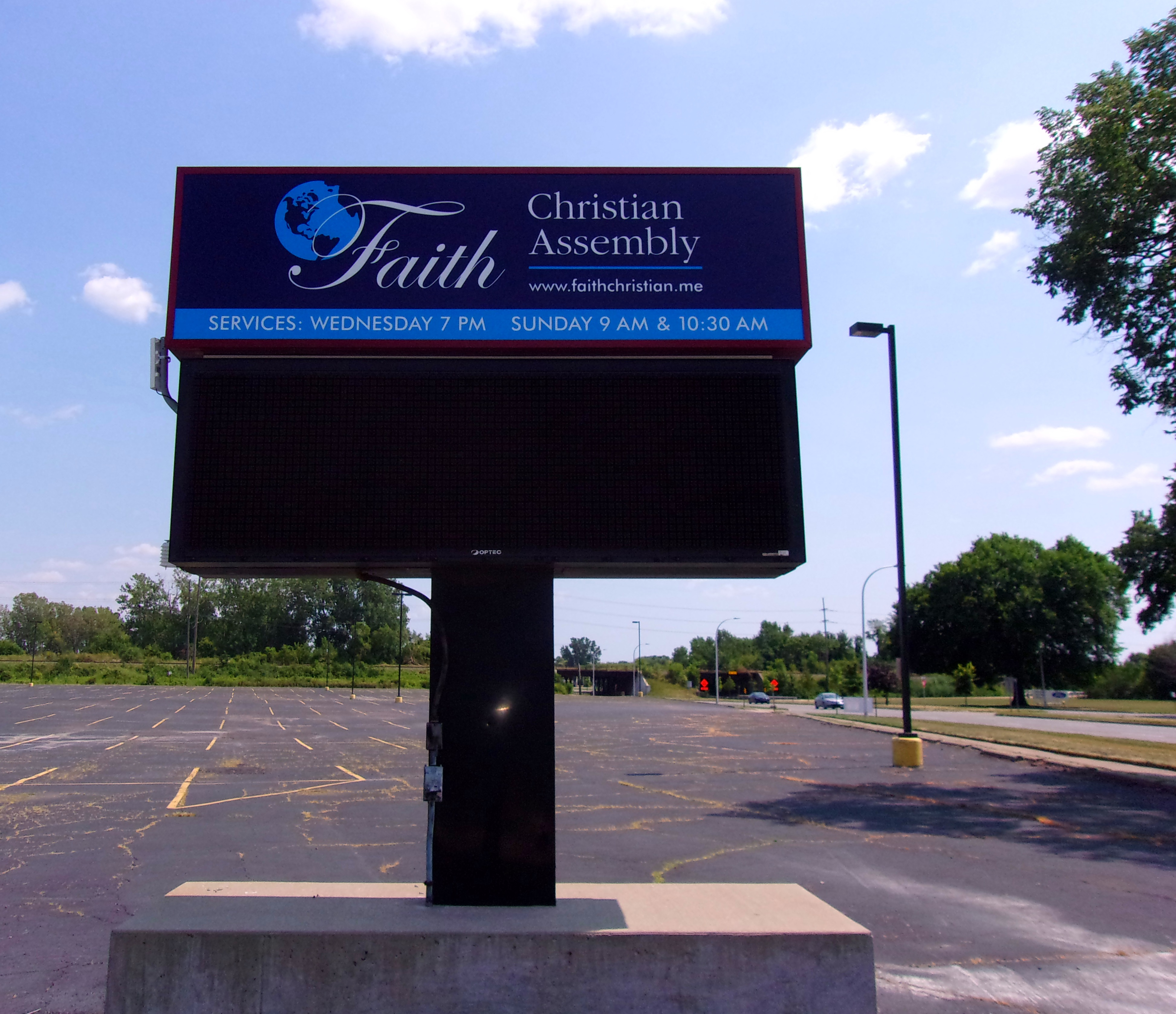 Faith Christian Assembly-Pole Sign