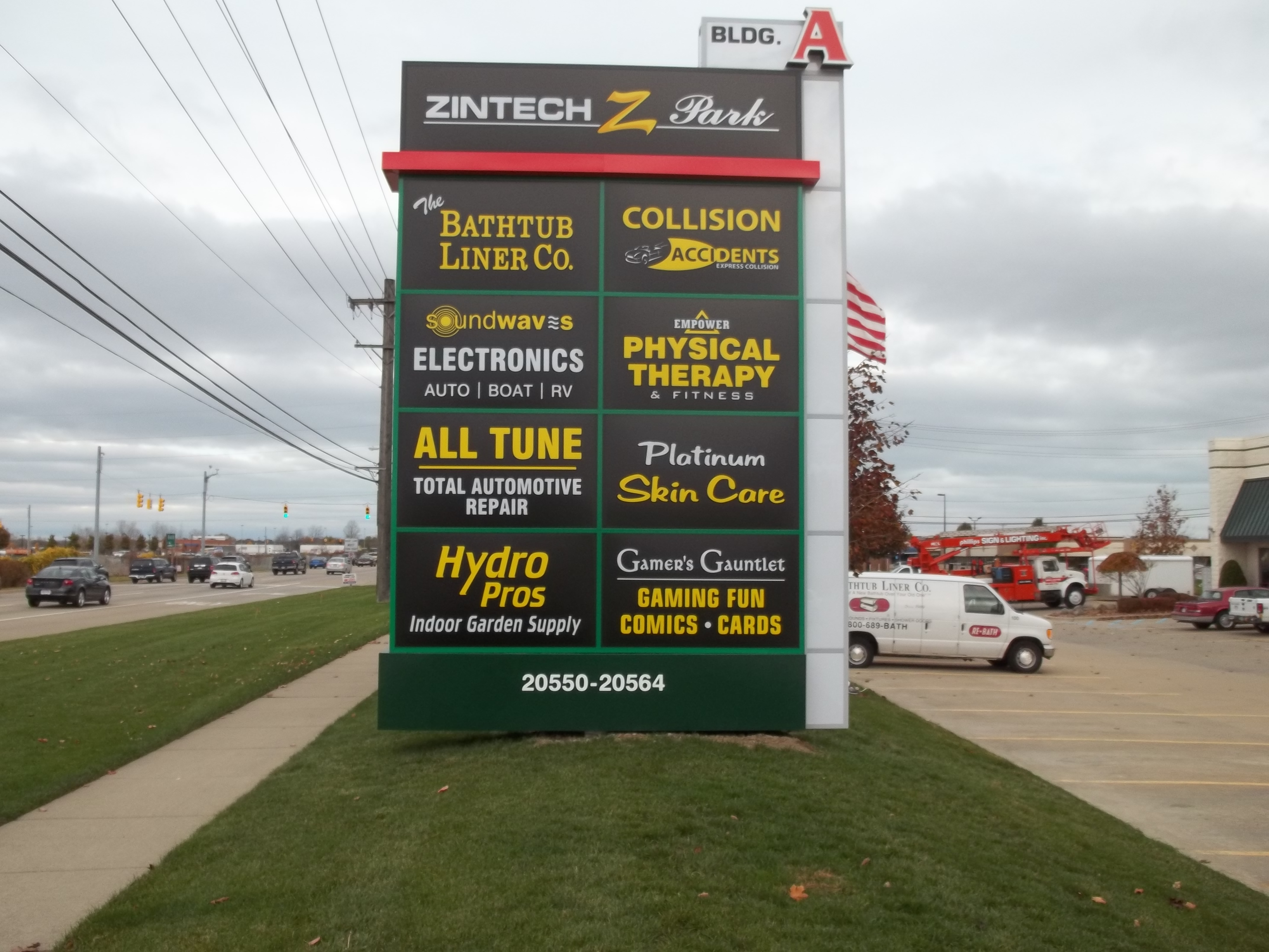 Zintech Pole Sign