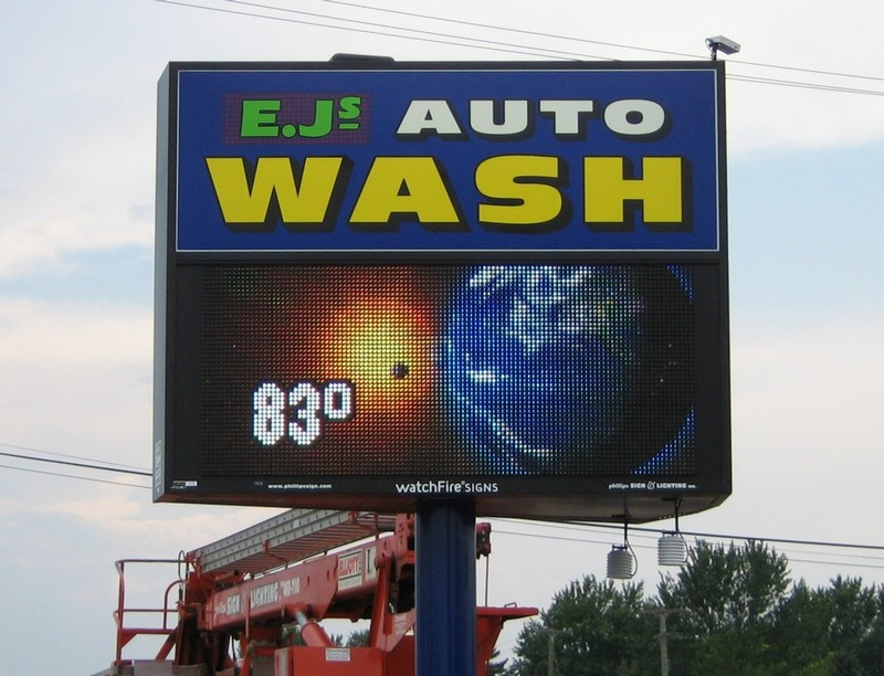 Electronic Sign  before-after