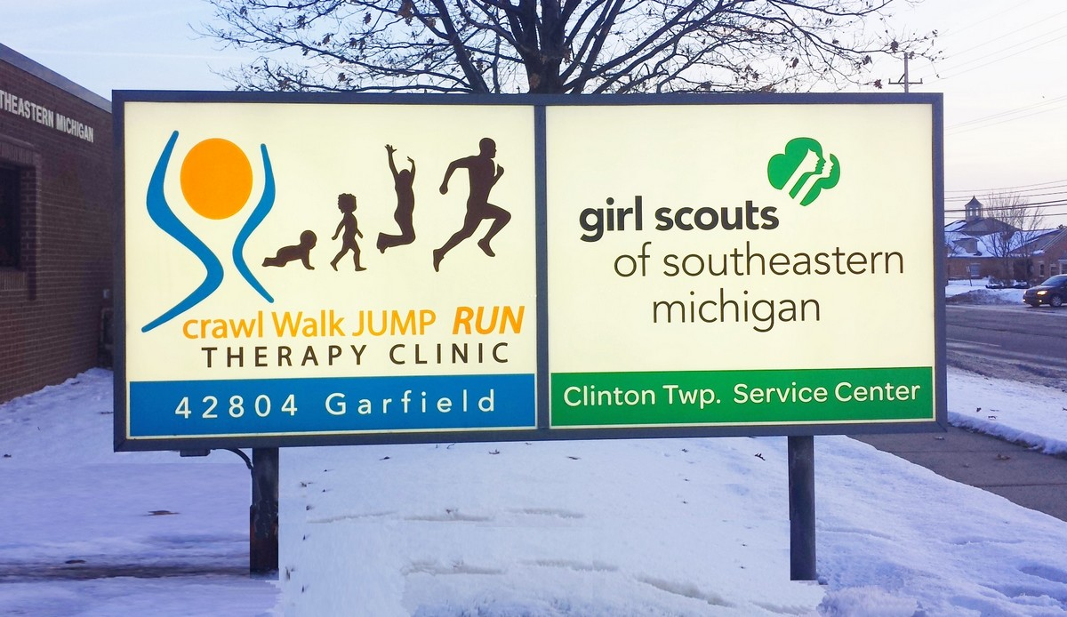 Crawl and Girl Scouts Signs