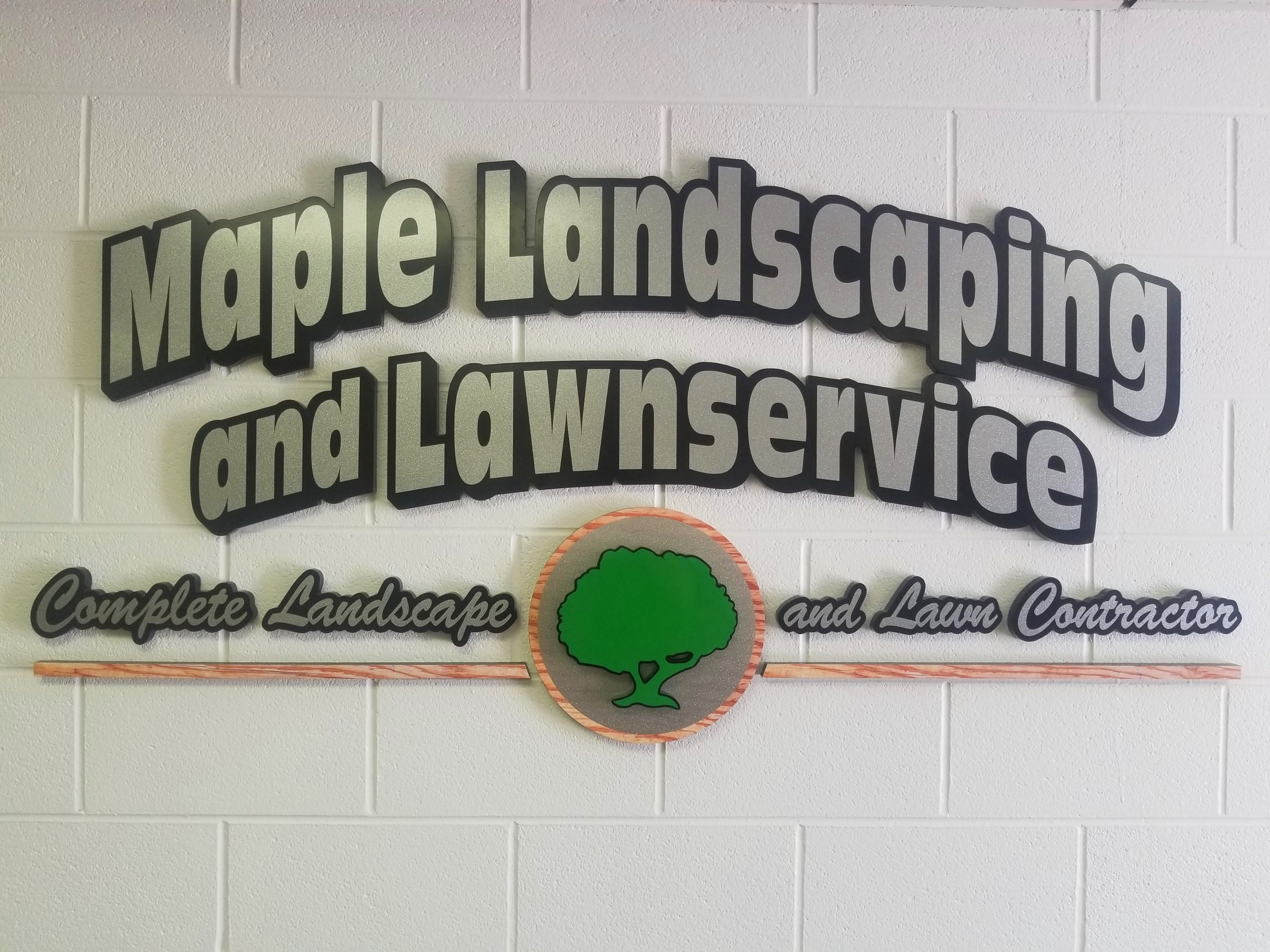 Maple Landscaping - Marine City - Interior Sign