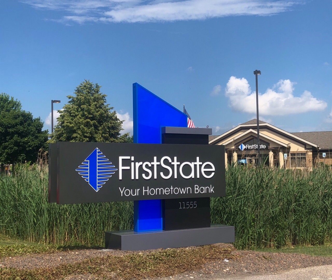 First State Bank - Washington Township - Monument Sign