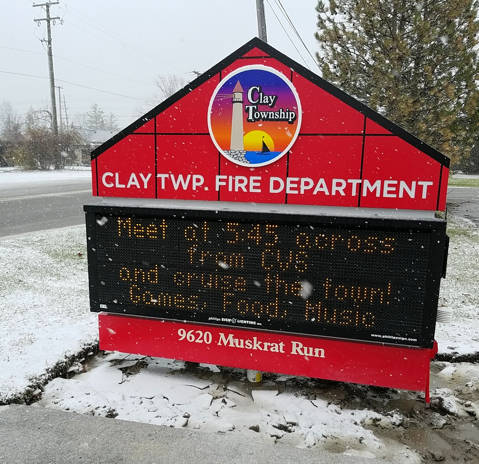 Clay Township Fire Department - Algonac - Electronic Message Center