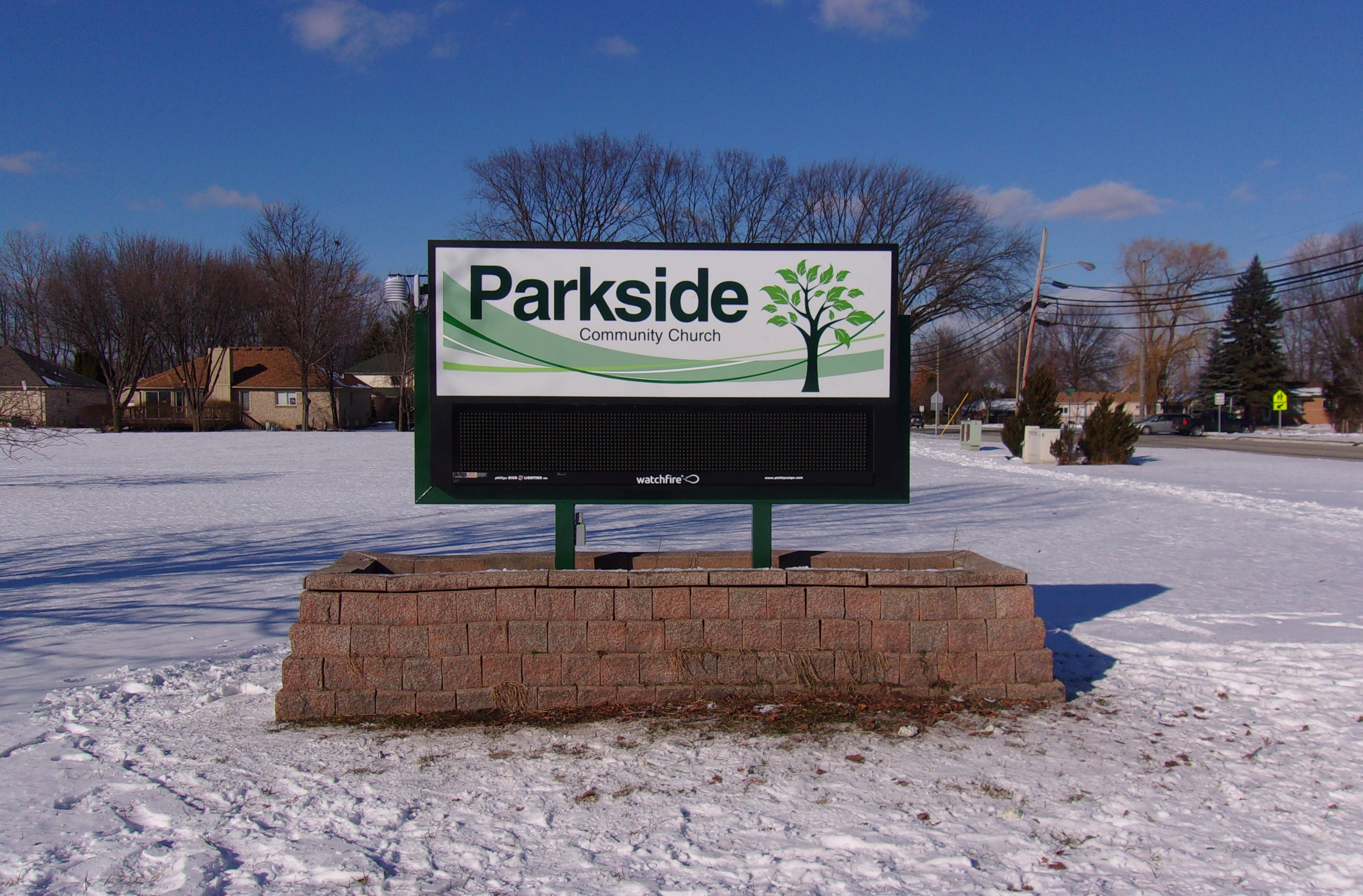 Parkside Community Church - EMC - Ground Sign