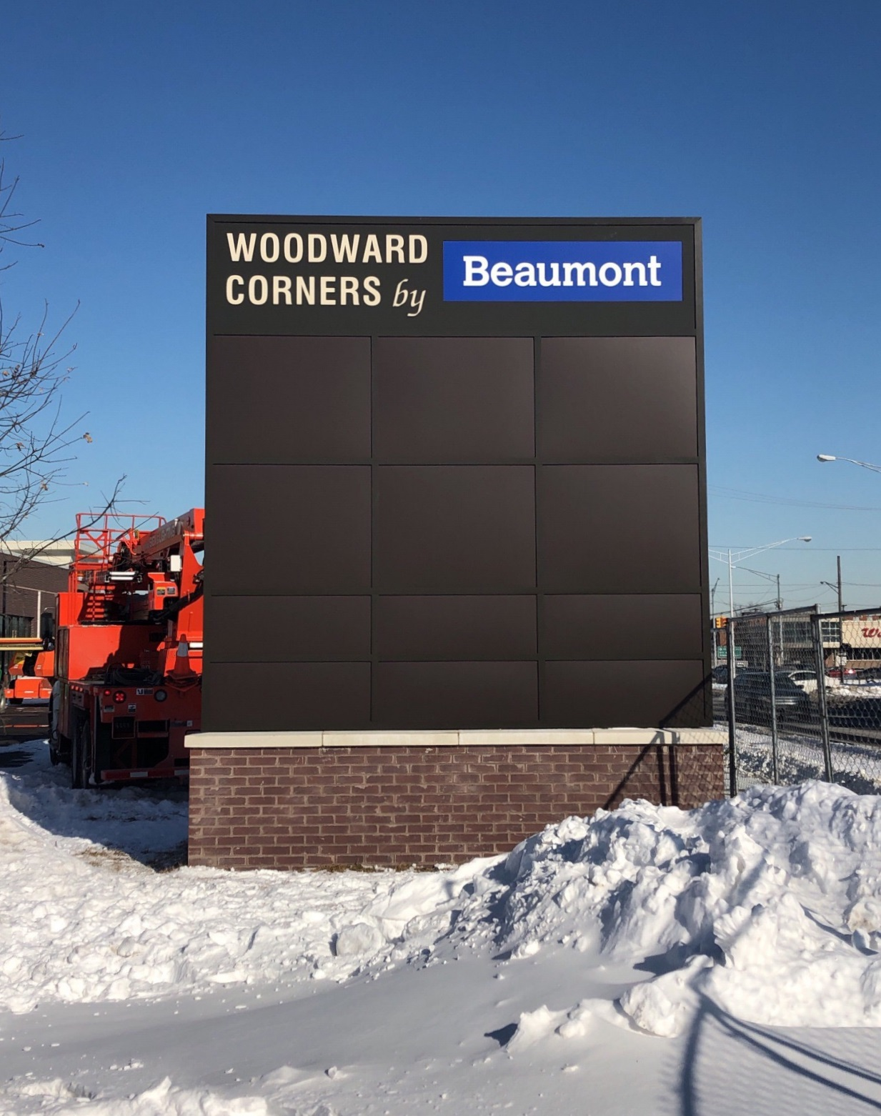 Woodward Corners by Beaumont  - Monument Sign - Royal Oak