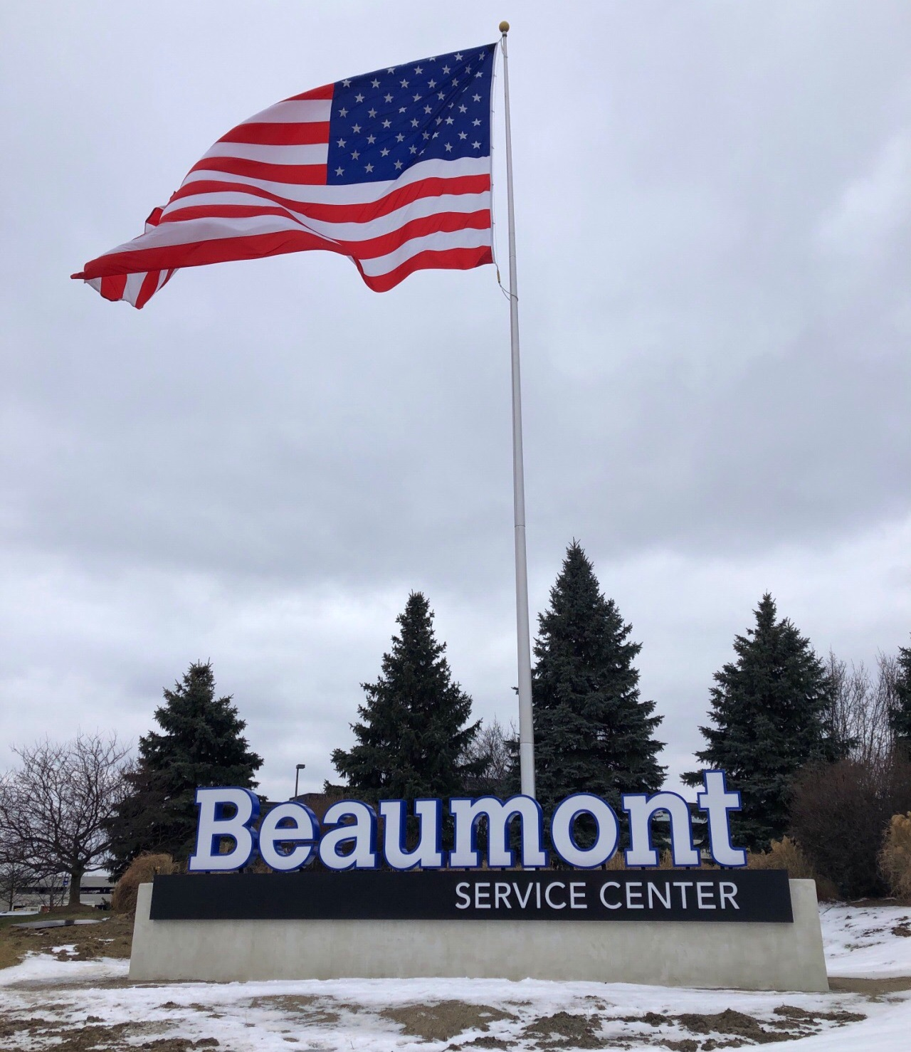 Beaumont Service Center - Monument Sign - Southfield