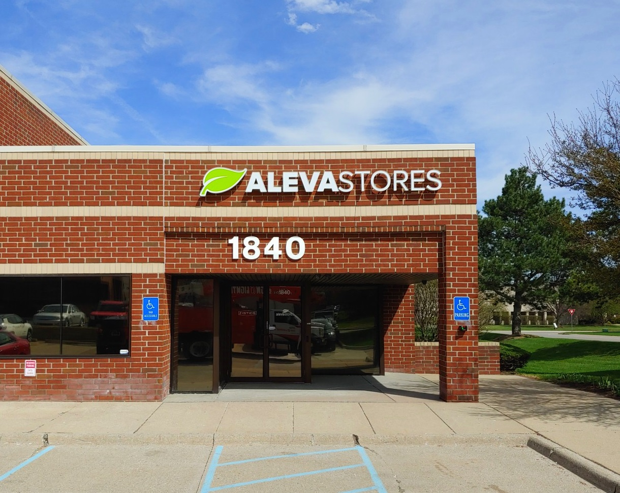 Aleva Stores Channel Letter wall sign in Rochester Hills