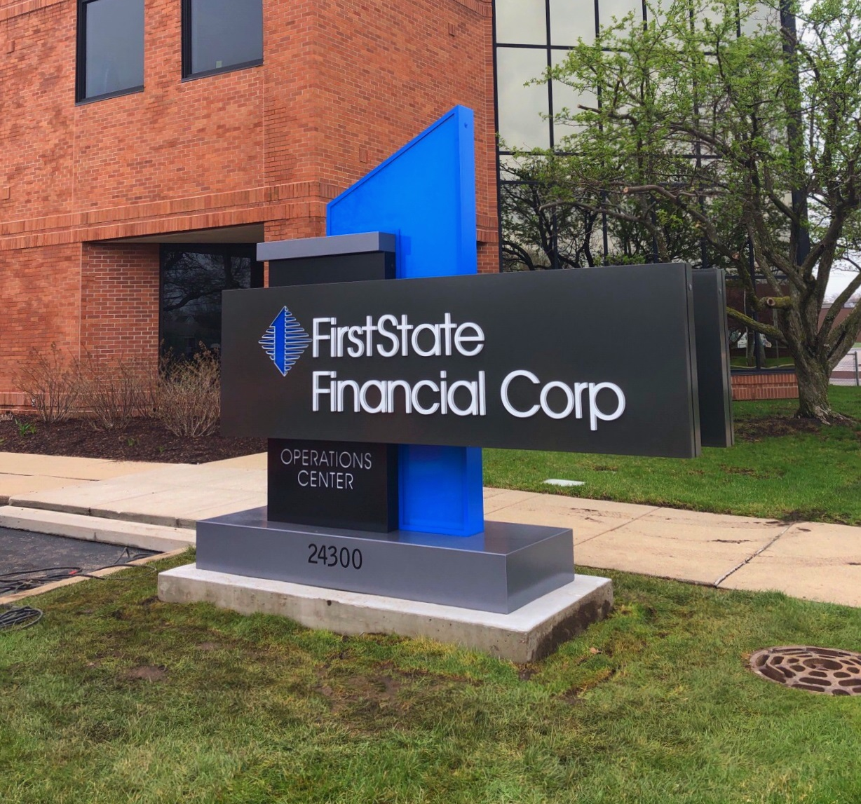 First State Bank - Monument Sign - St. Clair Shores