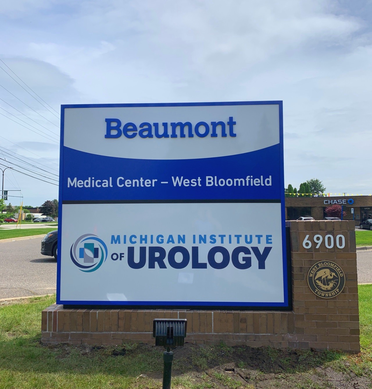 Michigan Institute of Urology Monument Sign