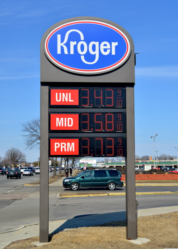 Kroger pole Sign