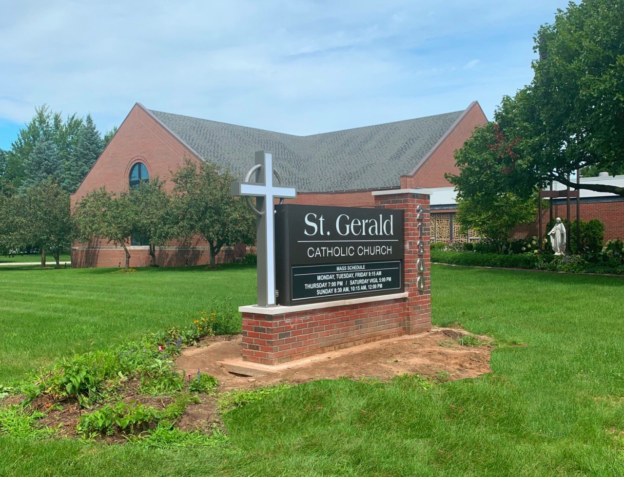 St. Gerald Catholic Church Monument Sign