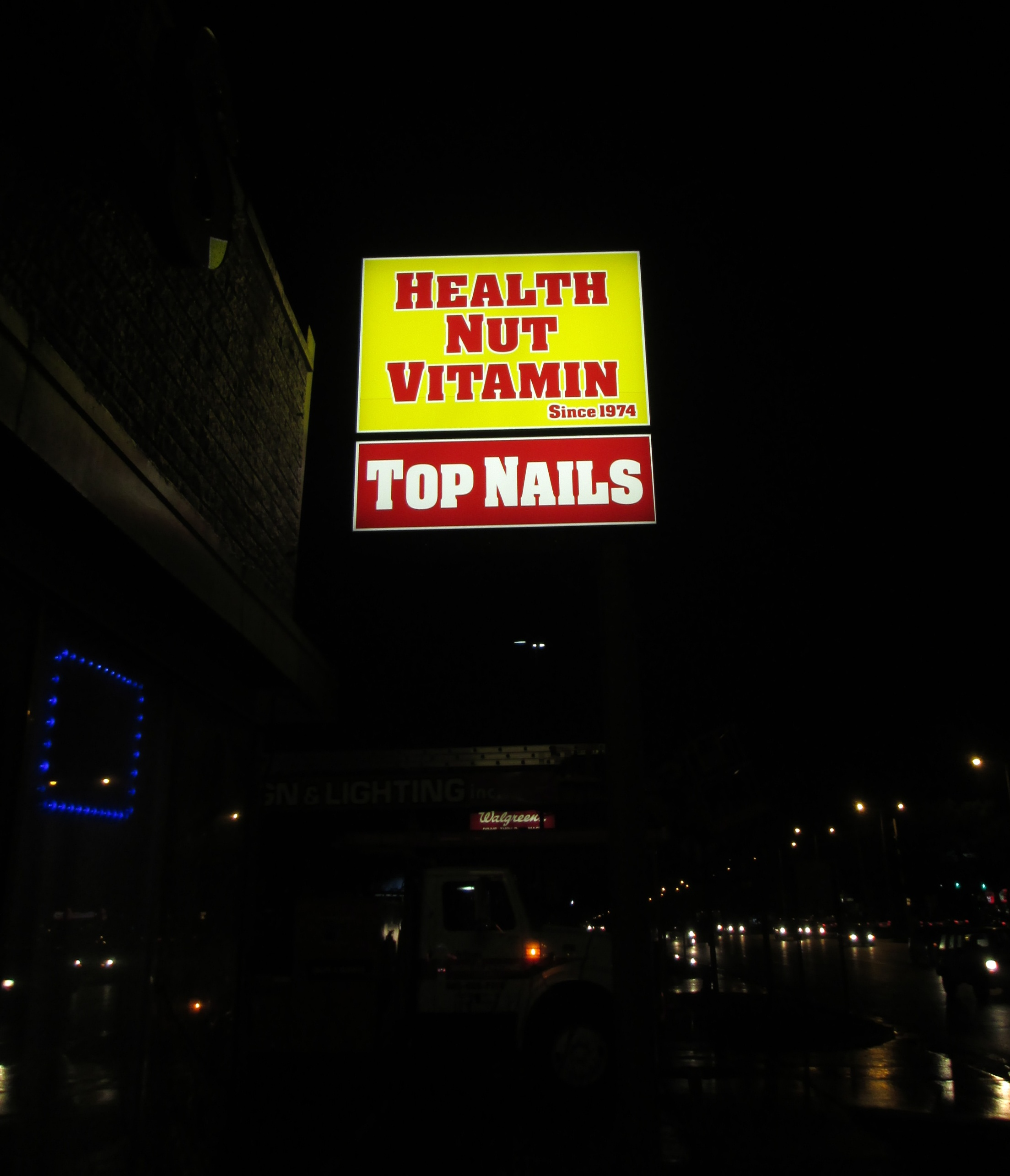 Health Nut Pole Sign