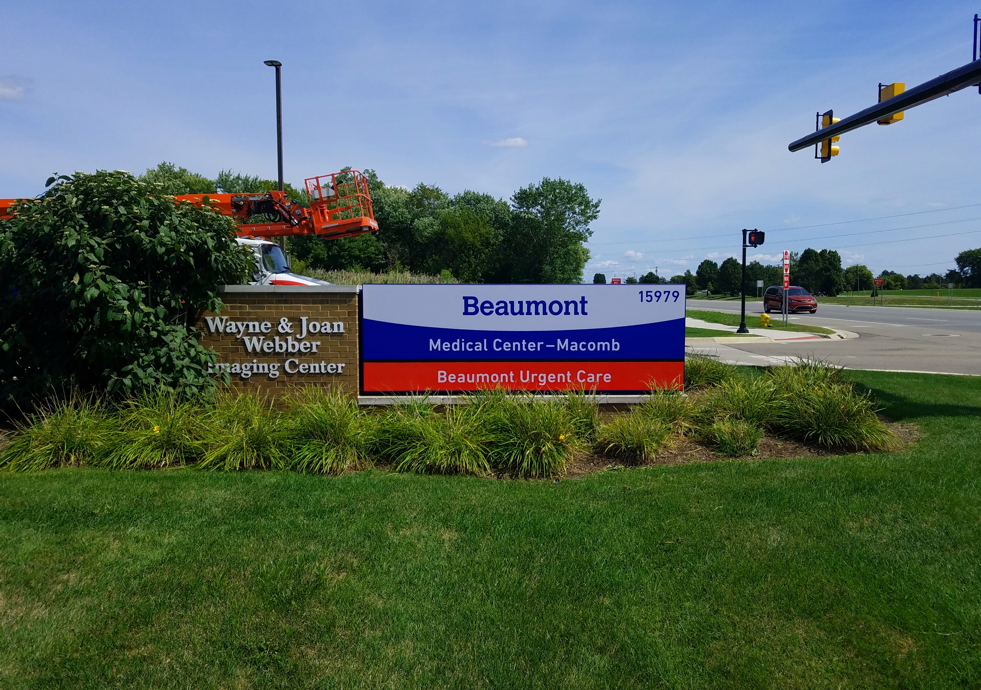 Beaumont Urgent Care - Monument Sign face change in Macomb Twp.