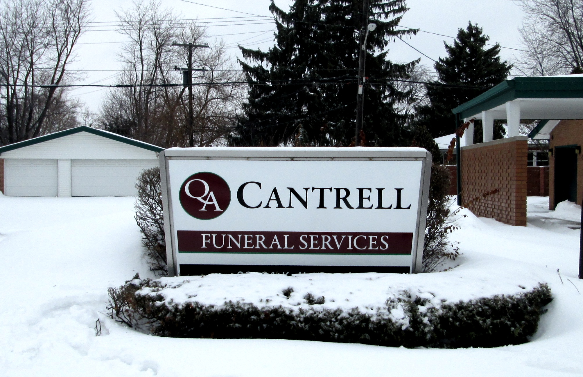 Cantrell Funeral Services | Lawn Sign