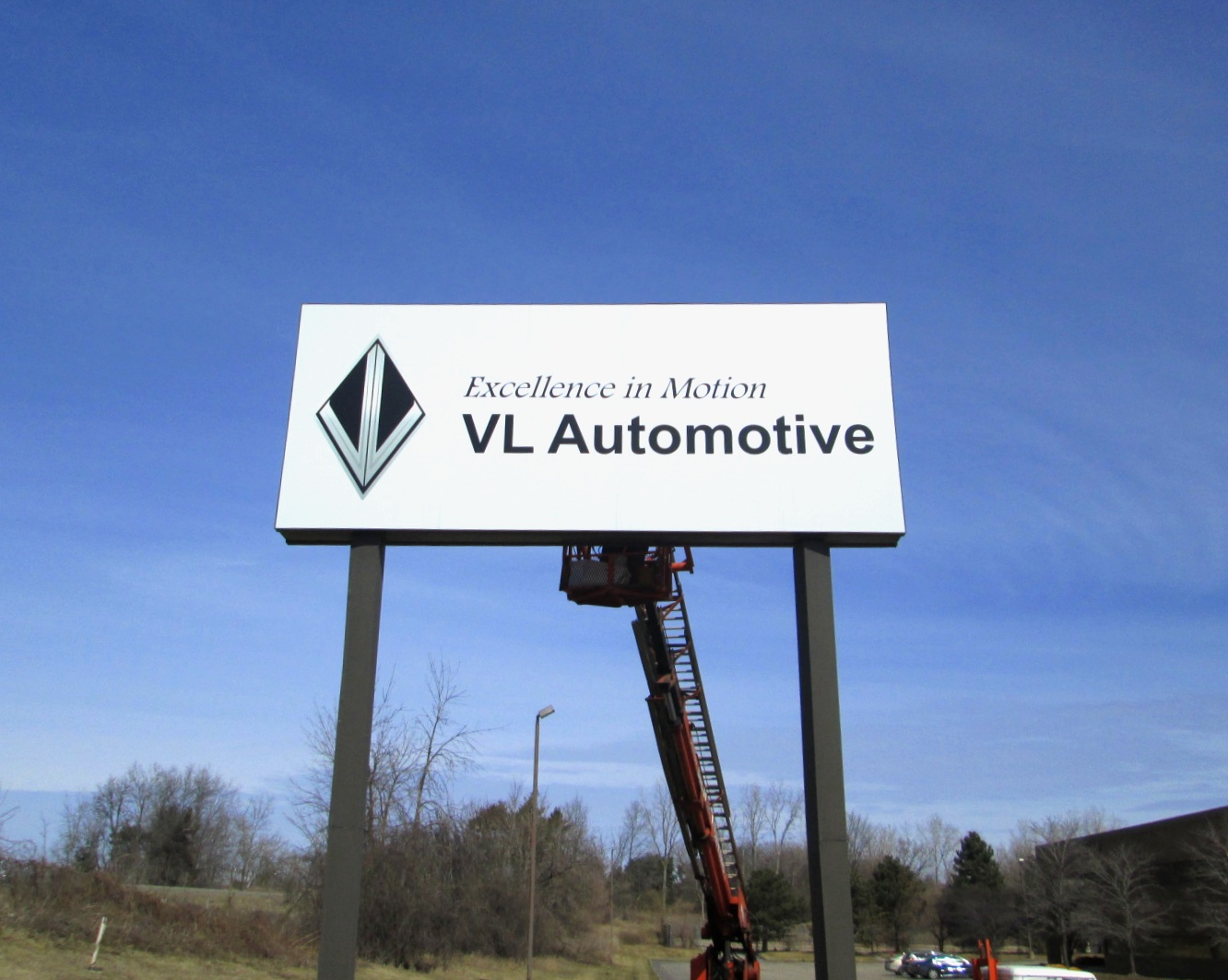VL Automotive Pole Sign