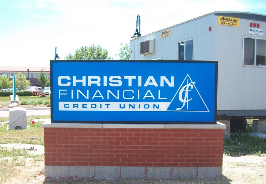 Christian Financial Credit Union | Lawn Sign