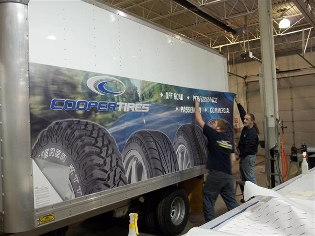 Cooper Tire trailer vehicle wrap