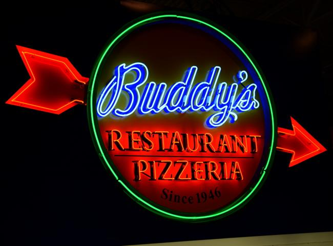 Buddy's Pizza Neon Sign by Phillips Signs Michigan.