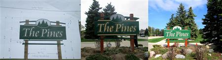 New Lawn Sign for The Pines Condo Association